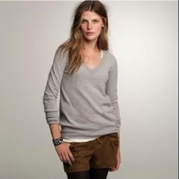 J. Crew Cashmere V-Neck Sweater. Medium. 4dcb64ede4